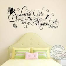little girls dreams magical things bedroom nursery wall sticker