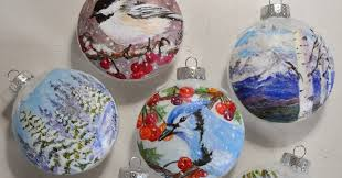 watercolor reflections one of a painted glass ornaments