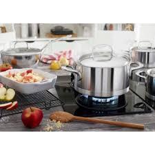 demeyere cuisine demeyere atlantis 9 stainless steel induciton cookware set