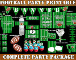football party decorations football party decorations football birthday printable
