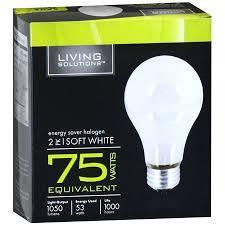 living solutions energy saver halogen light bulbs 75 watts