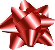 big present bow big 3d gift bow vector