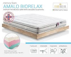 materasso antiallergico amalo biorelax materasso memory sfoderabile traspirante
