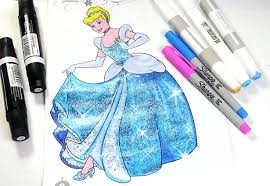 cinderella coloring page disney princess coloring book for kids