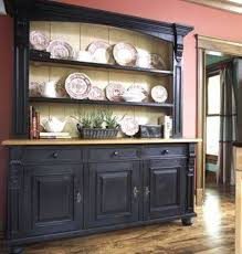 Buffet With Hutch Furniture Kitchen Appealing Black Kitchen Hutch Contemporary Sideboards