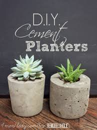 remodelaholic diy cement planters and garden globes