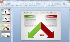 free two ways business decision template for powerpoint