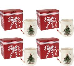 spode tree set of 4 mugs in gift boxes page 1 qvc