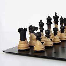 cool chess set unique chess set wood metal combination