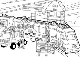 fantastic lego train coloring pages train station cecilymae