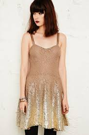 free people foil lace dress in metallic lyst