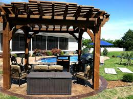 wood gazebo kit outdoor wood pergola designs plans handy home