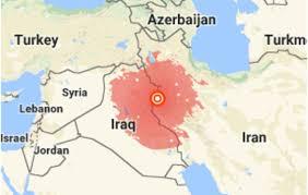 map iran iraq earthquake near iran iraq border kills hundreds and injures