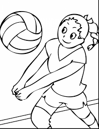 brilliant printable basketball coloring pages with volleyball