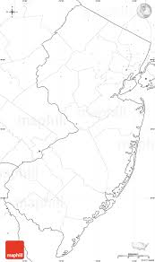 New Jersey Map Blank Simple Map Of New Jersey No Labels