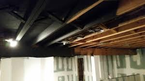 elegant exposed basement ceiling exposed basement ceiling sprayed