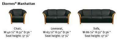 Dimensions Of Loveseat Ekornes Manhattan Sofa Loveseat And Chair Ekornes Manhattan