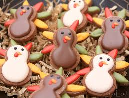 mini turkey cookies for thanksgiving lilaloa mini turkey