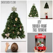 diy toddler proof tree tutorial