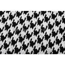 Black And White Check Upholstery Fabric Black White Checked Dog Tooth Pattern Soft Chenille Upholstery