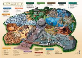Orlando Theme Parks Map by Mythbusters Star Wars Theme Park