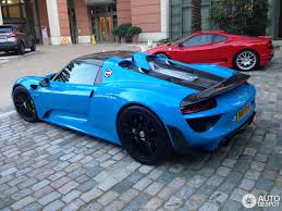 Porsche 918 Blue - porsche 918 spyder weissach package 7 june 2015 autogespot