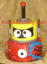 yo gabba gabba birthday cake3d cards 37 best robot party images on robot cake petit fours