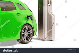 electric vehicles charging stations electric vehicle charging station 3d illustration stock