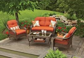 Patio Furniture Cushion Replacement Better Homes And Gardens Azalea Ridge Cushions Walmart