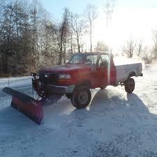 Ford F350 4x4 Trucks - 1997 ford f350 snow plow truck 4x4 western plow sold