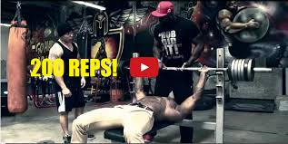 Starting Weight Bench Press 200 Reps In The Bench Press Starting With 245lb No Rest