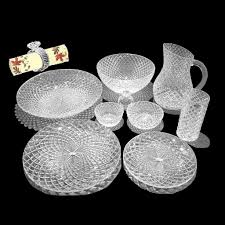 buy diamond crystal dinner set 4 member dining table 37 pcs online
