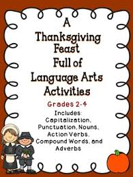 thanksgiving language arts activities activities language