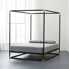 Black Canopy Bed Frame Frame Black Metal Canopy Bed Cb2 Inside Remodel 0 Safetylightapp