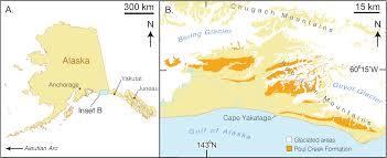 A Map Of Alaska by Arktocara Yakataga A New Fossil Odontocete Mammalia Cetacea