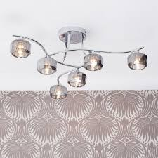flush ceiling lights living room sammi flush ceiling light 6 light chrome from litecraft