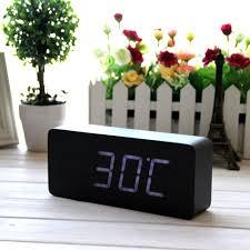 Minimalist Alarm Clock by Amazon Com Eiiox Wood Grain Clock Led Desk Alarm Clock Time