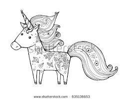unicorn wreath flowers magical animal vector stock vector