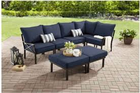 Sofa Section Walmart Sandhill 7 Pc Outdoor Sofa Sectional Set Only 496
