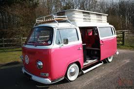 pink volkswagen van vw early bay 1971 camper van