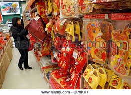 New Years Decorations Canada by Vancouver Canada 9th Jan 2014 Chinese New Year Decorations Are