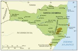 santa map map of santa catarina