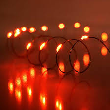ultra thin wire led lights red led ultra thin wire string light