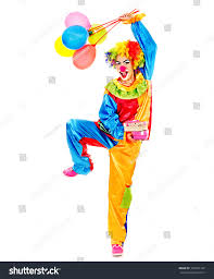 clown balloon l portrait clown balloon gift box isolated stock photo 160455197