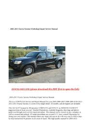 calaméo 2005 2013 toyota tacoma workshop repair service manual