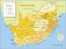 Blank Political Map Of South Africa by Map Of South Africa Provinces Nations Online Project