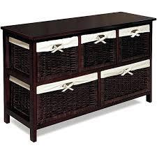 Storage Containers For Kitchen Cabinets Wicker Basket Cabinet Storage Wood Espresso Home Furniture