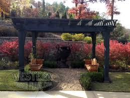Pergola With Movable Louvers by Free Standing Pergola With Custom Stain And Champion Profile