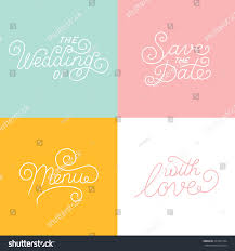 Wedding Invitation Card Design Template Vector Wedding Card Design Templates Handlettering Stock Vector