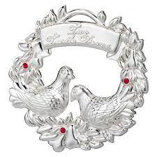 2012 waterford twelve days of two turtle doves silver